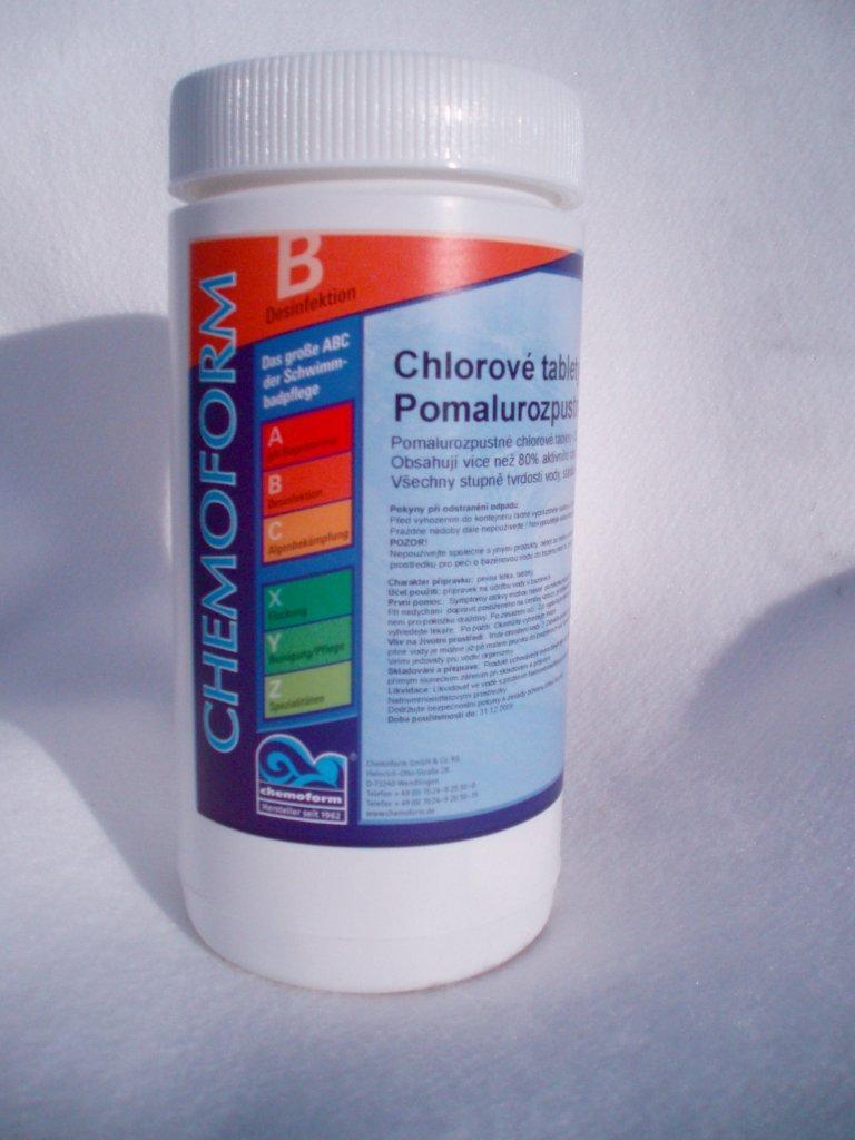 Chemoform chlórové tablety Maxi 1 kg, tableta 200 g, pomalurozpustné