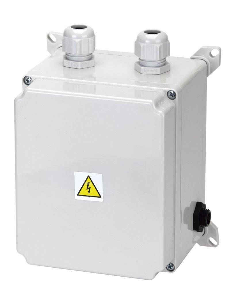 El. ovládání-spínání protiproudu 9-14A, IP65, tlakový spínač;1,2–2,6kW