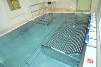 Nerezový bazén - prelivový