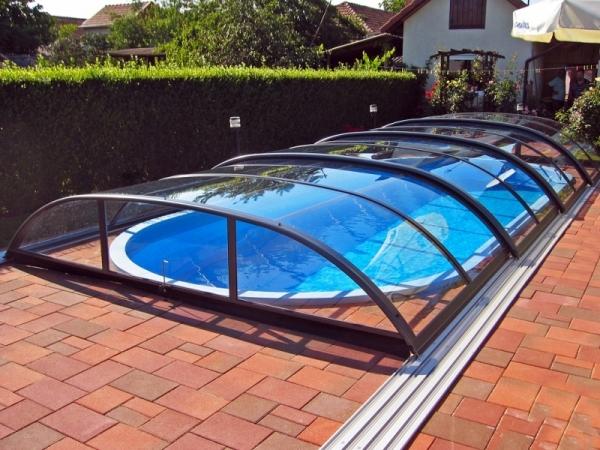 pool berdachung azure flat kompakt. Black Bedroom Furniture Sets. Home Design Ideas