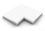 Bazenový lem-Roh 90 stupňů vnitřní - bílá