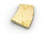 Rádius R100cm žltý melír