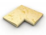Roh 90stupňov vnútorný žltý melír