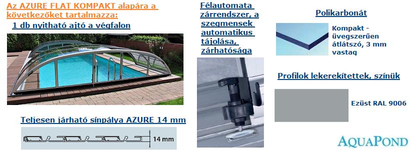 Medencefedés Azure Flat Kompakt