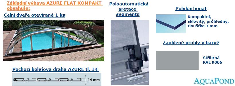 Zastřešení Azure Flat Kompakt