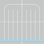 BEZBARIÉROVÁ ZÁHRADNÁ SPRCHOVÁ VANIČKA 80x80cm
