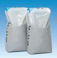 Filtrační písek o velikosti frakcí 0.8 - 1.2 mm, balené po 25 kg