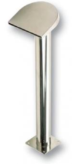 Félhold alakú, magas vízköpő, 200 mm széles, lefelé áramló vízsugár, csatlakozás 75 mm, fényes