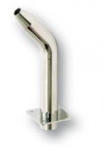 Síp alakú alacsony vízköpő, felfelé áramló vízsugár, csatlakozás 63 mm, fényes