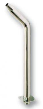 Síp alakú magas vízköpő, felfelé áramló vízsugár, csatlakozás 63 mm, fényes