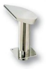 Félhold alakú, alacsony vízköpő, 200 mm széles, felfelé áramló vízsugár, csatlakozás 75 mm, fényes
