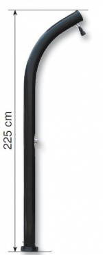 Solární sprcha ∅ 110 mm, 25 l, resin, zahnutá.
