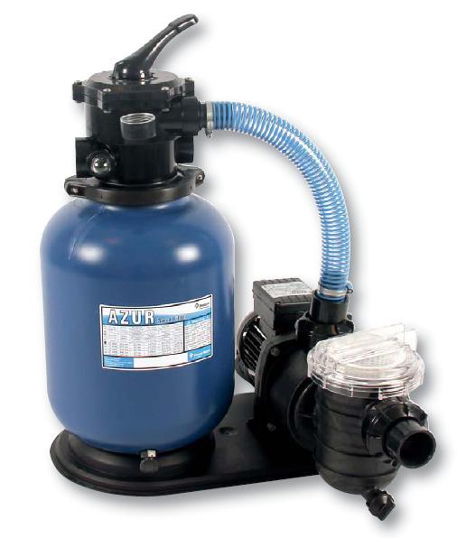 Kompletní písková filtrace, set 300, 4,5 m3/h, 230 V, 4-cestný top-ventil.