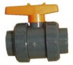 FIP PVC guľový ventil 50 mm