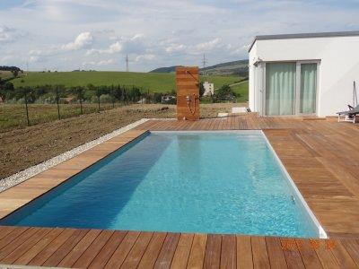 Skimmerový bazén s AquaDiamante úpravou vody