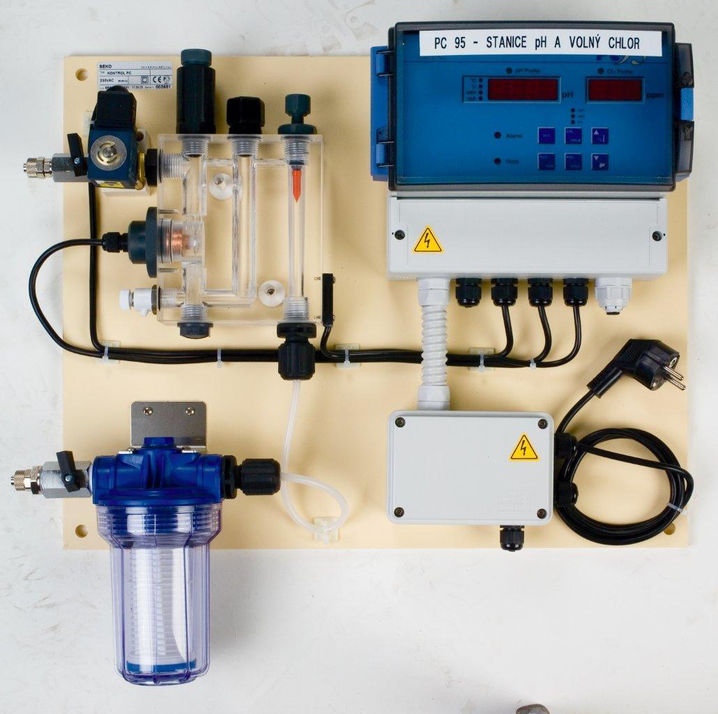 Dávkovací stanice KONTROL PC 95, připojovací materiál, bez čerpadel