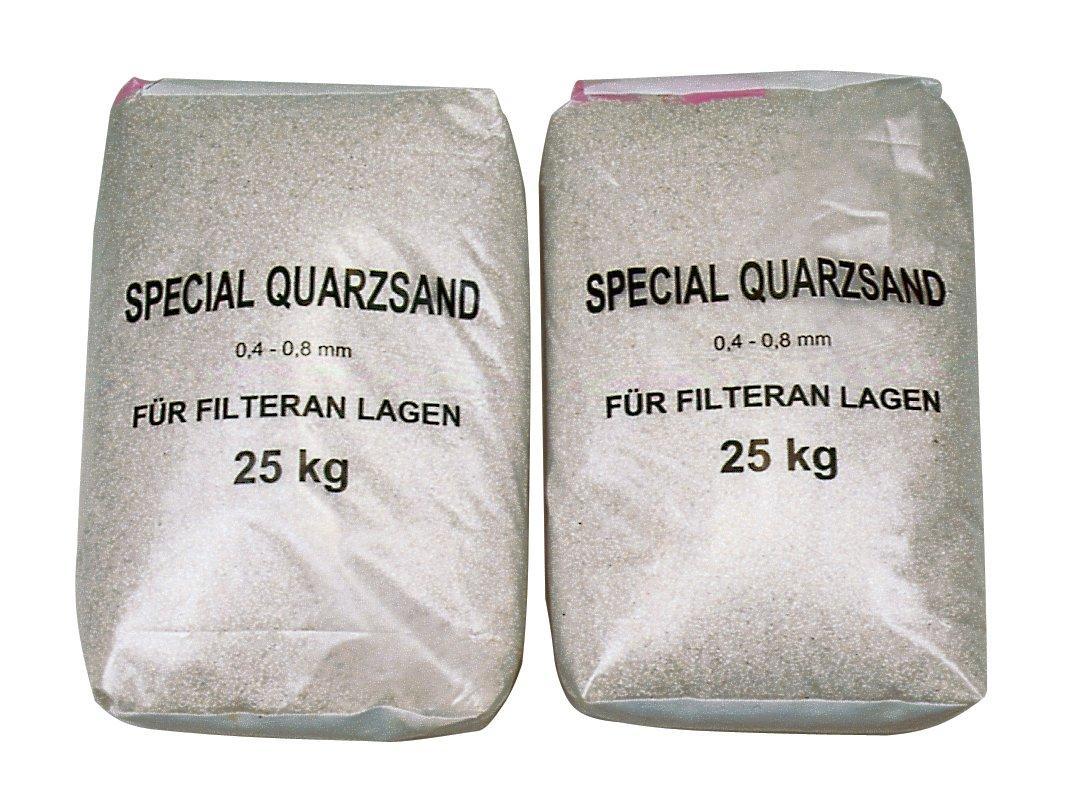 Filtrační písek o velikosti frakcí 0,6 – 1,2 mm, balené po 25 kg