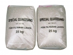 Filtračný piesok s veľkosťou frakcií 0,5 - 1 mm, balené po 25 kg