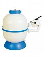 Pieskový filter KIT GRANDA 400 mm, 6 m3/h, bočný, 6 cestný top-ventil