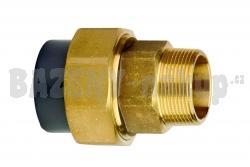 """FIP PVC tvarovka - Šroubení 50 x 1 1/2"""" ext. mosaz"""