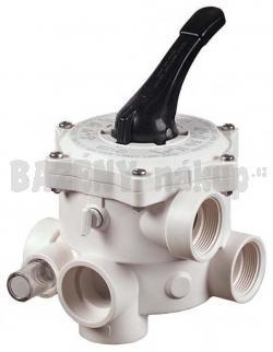 Šesticestný ventil ručný 1 1/2´ s bočním připojením k filtru