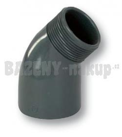 "FIP PVC tvarovka - uhel 45° 50 x 1 1/2"" ext."