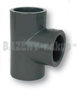 "FIP PVC tvarovka - t-kus 90° 50x1 1/2"" int."