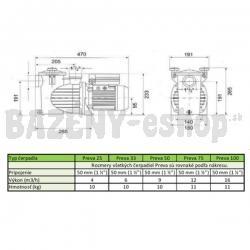 Čerpadlo Preva 25 - 230V, 4 m3/h, 0,16 kW