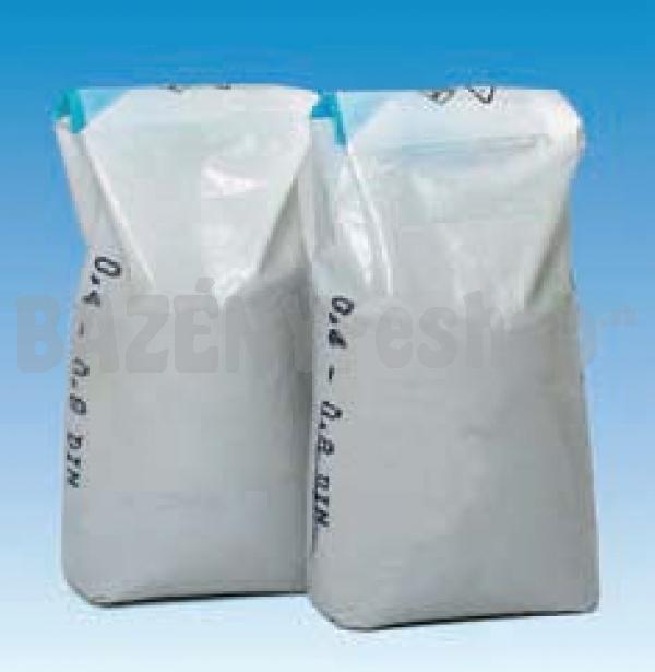28a12502e340c Filtračný piesok s veľkosťou frakcií 0.8 - 1.2 mm, balené po 25 kg