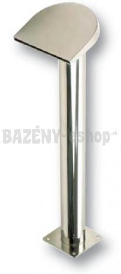 Chrlič, vysoký pólmesiac, š 200 mm, prúd vody na dol, pripojenie 75 mm, lesklý