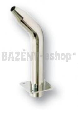 Chrlič, nízka píšťala, D 25 mm, prúd vody nahor, pripojenie 63 mm, lesklý