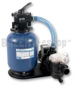 Kompletná piesková filtrácia, set 300, 4,5 m3/h, 230 V, s 4-cestným top-ventilom.